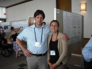 Attendees Michael and Jenna pose at the Poster Session