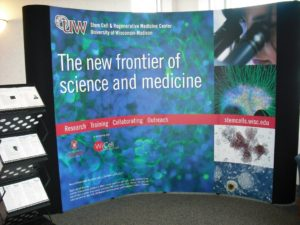 Stem Cell Research poster reading The new frontier of science and medicine