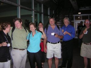 Several people gather for the Spinal Cord Research Symposium 2007