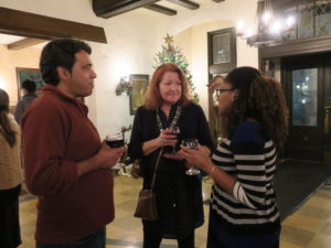 Chatting at the Holiday Party, 2017