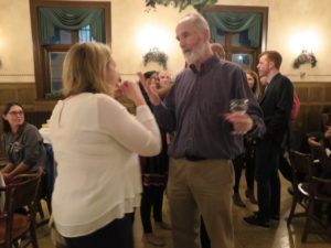 People chatting during Holiday Party 2017